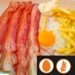 Patatas con huevo y bacon